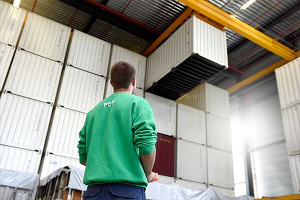 Bedrijfsopslag-Goederenopslag in zeecontainer