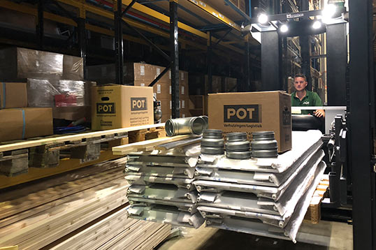 Bouwlogistiek depot POT