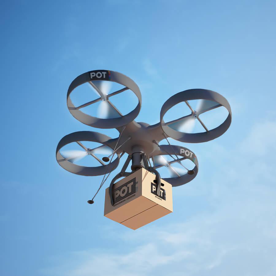 pot gaat drones inzetten